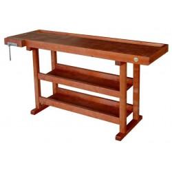 Etabli en bois de menuisier 1,50m + presse 0013148C