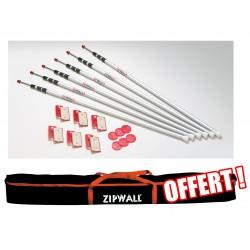 Pack Zipwall 6 perches et sac de transport offert