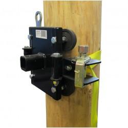 Système d'ancrage pour arbres ou poteaux avec courroie