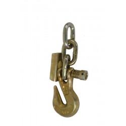 Crochet plat 7mm avec barrure et 3 mailles de chaîne